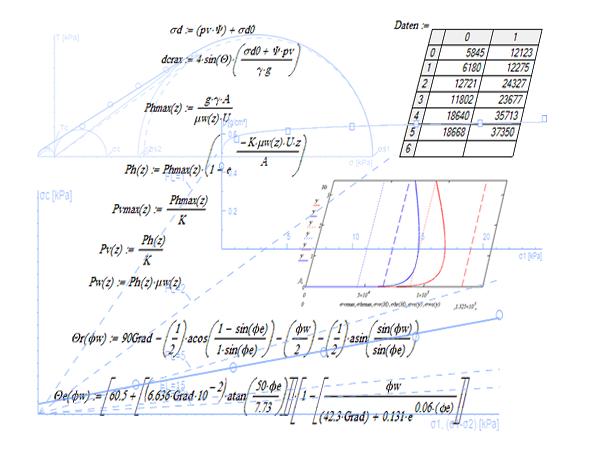 Berechnung der Spannungen im Silo DIN 1055-6, DIN EN 1991-4